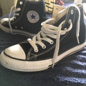Youth size 2 converse black high top